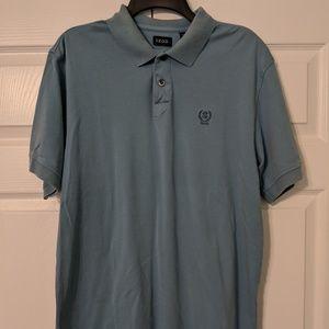 Light blue, soft cotton IZOD polo shirt, men's lar